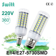 1PCS LED lamp E27 E14 3W 5W 7W 12W 15W 18W 20W 25W SMD 5730 Corn Bulb 220V Chandelier LEDs Candle light Spotlight