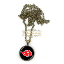 BZA0117 Naruto Akatsuki Red Cloud pendant necklace,art pendant,Glass dome cabochon Necklaces & Pendants