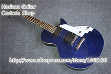 Chinese Custom Shop LP E;lectric Guitar Standard Dot Inlay Special Blue Sparkle Finish Headstock Can be Changed