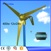 2018 hot selling 400W Max Power 450w 5 blades small wind generator / wind turbines / wind mill 12v/24v available CE Approved(China)