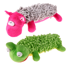 Pet Dog Toy Animal Shape Voice Pet Products Funny Lovely Toys Sounding Squeaky Plush Toy Green/Rose Red