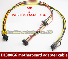 NEW 2PCS/LOT Motherboard 10Pin to PCI-E 8Pin (6+2Pin)+SATA+4Pin IDE Molex Adapter Power Cable Cord For HP DL380G6 Server(China)