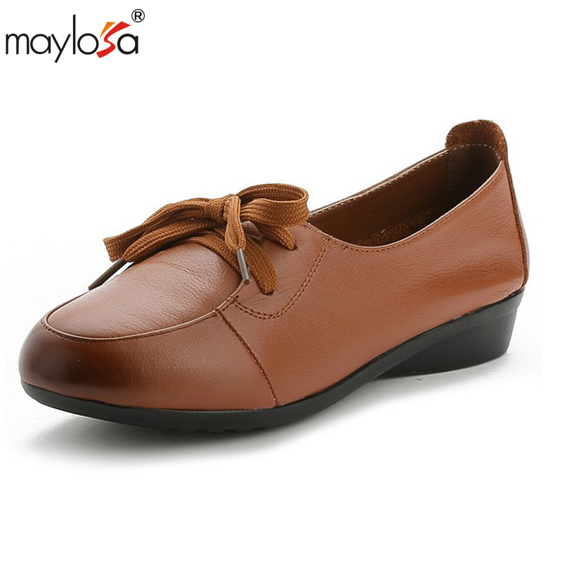 MAYLOSA made-spring,Genuine leather shoes,Pure handmade flat shoes,Women the retro art  girl shoes,Women fashion Casual shoes<br>