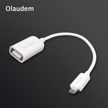 Olaudem OTG Cable Male Micro USB Female USB Adapter Cable Micro USB Samsung Android Device Mobile Phone Cables ADT518