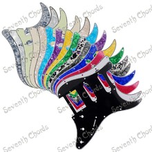 NEW Multicolor 3 Ply 11 Holes SSH Guitar Pickguard Anti-Scratch Plate For ST FD Electric Guitar  - (JTHB-SSH-DS)