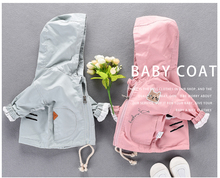 pink/ light blue boy's outwear wind jacket spring autumn fashion baby boy girls children long Thick Hoodie Jacket outer Coat(China)