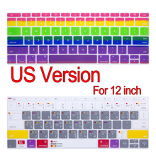 Candy Colors US Version English Language Keyboard Membrane Cover For New Macbook 12 inch Silicone Keyboard film Cover Case