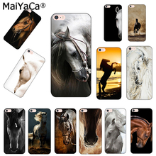 MaiYaCa Horse Animal Printed Coque Cover Phone case For iPhone 6 6S Plus 7 7 Plus 8 Plus X 5 5S 4S Silicone Mobile Phone Case(China)