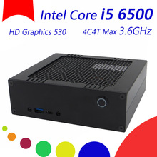 Wolferdtech DIY HTPC With Intel Core i5 6500 4C4T Max 3.6GHz,4K HD Graphics 530 Display HTPC, 2*DDR4 2133 1.2V Slots, Windows 10