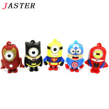 JASTER promotion Best Gift  super hero avenger pendrive Usb 2.0 Robot Usb flash drive 4GB 8GB 16GB 32GB cartoon pen drive