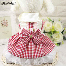 BENMEI Roses To Decorate Summer Dog Princess Skirt Dog Dresses Puppy Clothing Supplies XS, S, M, L, XL ,XXL Spring Dog Clothes(China)