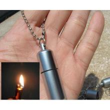 Novelty gadget True Utility TU262 Mini Key Ring Flint Lighter Silver metal Zinc Alloy Oil Cigarette Lighters camping Wholesale