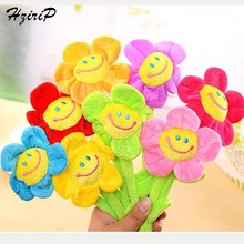 Retail Stuffed Plush Plants Toys Curtain Clip Creative Sunflower Plush Toys For Children Birthday Bouquet Wedding Gifts 8 Colors(China)