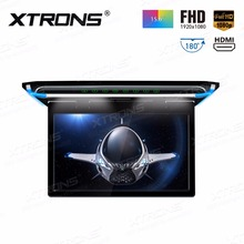 "XTRONS 15.6"" Monitor 1080P Video FHD Digital TFT Screen Wide Screen Ultra-thin Car Roof Mounted DVD Player HDMI"