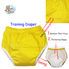 2017 Babyshow Reusable Elastic Training Pants Diaper Bamboo Fabric Lining Thicken Inserts Medium And Large Training Cloth Diaper