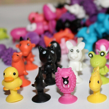 100 PCS/bag good Cupule kids Cartoon Animal Action Figures toys Sucker kids Mini Suction Cup Collector Capsule model
