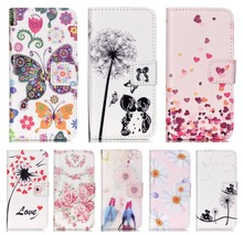 DEEVOLPO Dandelion Cases For iPhone 8 7 Plus 5C 5S 6S Plus Flower Covers For Touch 5 6 Romantic Couple Lady Flip Phone Bags DP37(China)