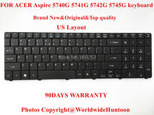 Brand New Original laptop keyboard for ACER Aspire 5740G 5741G 5742G 5745G Keyboard US Layout 90Days Warranty