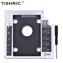 TISHRIC 2017 Limited Promotion Aluminum 2nd HDD Caddy 12.7mm IDE for Notebook ODD DVD-ROM Optibay 2.5 Inch SSD Case Enclosure