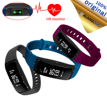 ALANGDUO V07S Wband Blood Pressure pedomet Fitness Tracker Smart Bracelet Heart Rate Monitor Bluetooth Wristband For iOS Android
