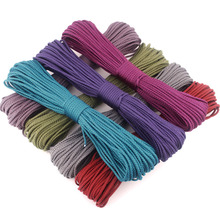 New 8 Colors Paracord 550 100FT Paracord Rope Cuerda Escalada Mil Spec Type III 7Strand Paracorde 550 Outdoor Survival Equipment(China)