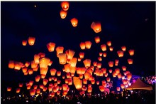 Sky Lantern Flying Wishing Lamp Birthday Party Cute Hot Air Balloon Kongming Lantern Party Favors