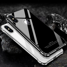 Buy 2017 New iPhone X Case Luxury Glitter Hard Aluminum Metal Bumper+Tempered glass Armor Full Protective Back Phone Case Cover for $16.56 in AliExpress store