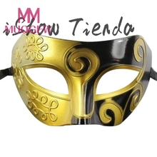 Mask Retro Roman Gladiator Swordsman Halloween Party Masks Mardi Gras Masquerade Mask(China)