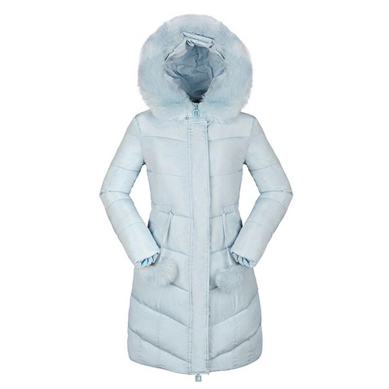 Down Parkas Winter Jacket Women Cotton Padded Thick Ultra Light Long Coat Faux Fur Collar Hooded Female Jackets For Woman DR6913Îäåæäà è àêñåññóàðû<br><br>