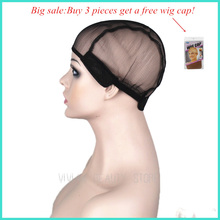 Free shipping wig cap for making wigs stretch weaving net cap black color medium size high quality guarantee