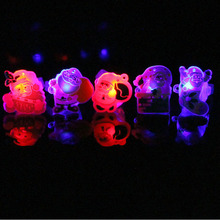 2018 Children Kids Christmas LED Flashing Finger Rings Light Up Glow Jelly Rings Glow Party Supplies Christmas Navidad New Year(China)