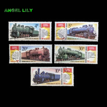 1986 Steam Trains Locomotives - Monuments, 5 PCS / set, CCCP Postage Stamps With Post Mark In Good Condition For Collection(China)