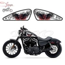 Expendables Graphics Guns Skull Sticker Fuel Tank Decals Stickers For Harley Sportster XL 883 1200 Iron Forty Eight Seventy Two