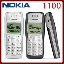 1100 Cheapest Original Unlocked Nokia 1100 Multi-color Refurbished Mobile Phone Free Shipping(China)