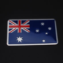 Auto Car Aluminum Rectangle Australia Australian Flag Trunk Rear Badge Emblem Side decal decor Sticker 80*50mm