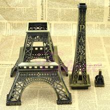 Alloy Model Decor 13cm Vintage Bronze Tone Paris Eiffel Tower Figurine Statue Sell