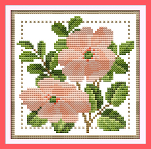 Joy sunday floral style Twelve months flower June free printable cross stitch patterns flowers for handcraft gifts