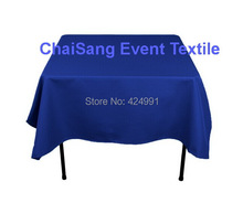Extra Thicker 150cm Square Royal Blue  Table Cloth,Polyester Plain Table Cloth,Square table cloth For Wedding &Hotel&Banquet