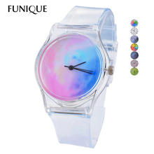 Transparent Clock Silicone Watches Women Sport Casual Quartz Wristwatches Novelty Crystal Ladies Watch Cartoon reloj mujer