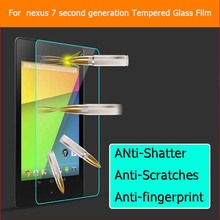 2 X GLASS For Google Nexus 7 2nd FHDTempered Glass Screen Protector 9h Protective Film For Asus Razor Me571K Me571KL 2013 Nexus7