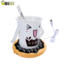 Creative Silicone Donut Electric Insulation Coaster USB Cup Warmer Tea Warmer Office Tea Coffee Beverage USB powered Heater Mat