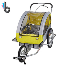 Pet Bike Trailer Foldable Dog Cat Bicycle Carrier with Suspension Pet Stroller(China)