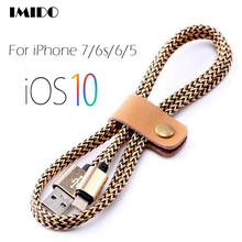 8 Pin USB Cable Nylon Braided Charge & Data USB Cord Wire for iPhone 7/6s/6 plus/6s plus/SE iPad 4 Mini Air iPod Nano 7 Touch 5