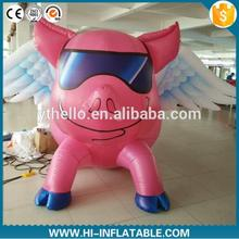 3m New design giant inflatable flying pink pig