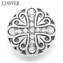 Buy 10Pcs/lot Xinnver Snaps Buttons Jewelry 18mm Metal Charm White Crystal Cross Buttons Fit 18/20mm Snaps Bracelets Jewelry ZA558 for $4.19 in AliExpress store