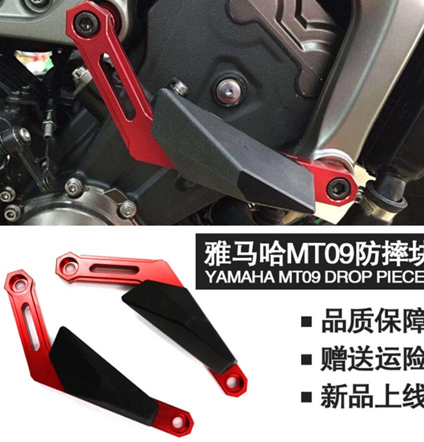 MT09 tracer FJ09 CNC Aluminum Frame Slider for Yamaha MT 09 MT-09 Tracer Red Black Blue Gold Titanium 4 colors Free Shipping<br><br>Aliexpress