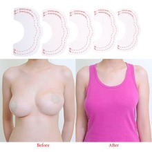 1set =10pcs Hot Breast Lift Tape Invisible Instant Enhancer Push Up Bare Lift Adhesive Bra Accessories Breast Enhance Tape Lift