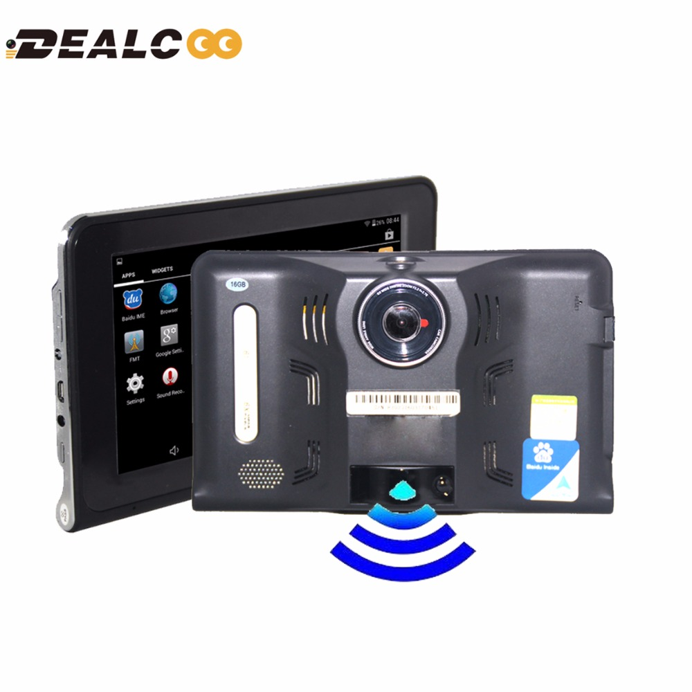 7 inch GPS Android GPS Navigation DVR Radar Detector 16GB Disk AVIN support Rear View Camera WiFi Internet Tablet Google Play<br><br>Aliexpress