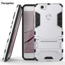 Fecoprior Nova TPU PC Stand Protector Back Cover Case for Huawei Nova Celulars Android Smart Phone Coque Fundas Armor Iron Man(China)