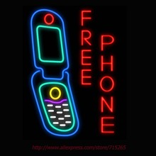 Neon Sign Free Phone Real Glass Tube Handcrafted neon signs Custom Health Store Display Sports ADVERTISE Free Design 31x24(China)